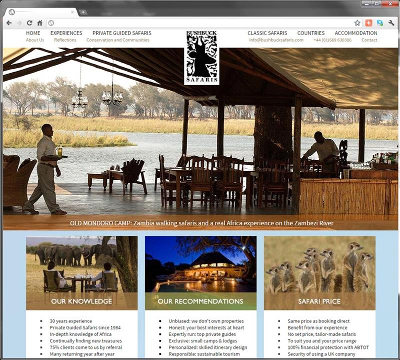 Click on image of BUSHBUCK SAFARIS for more details