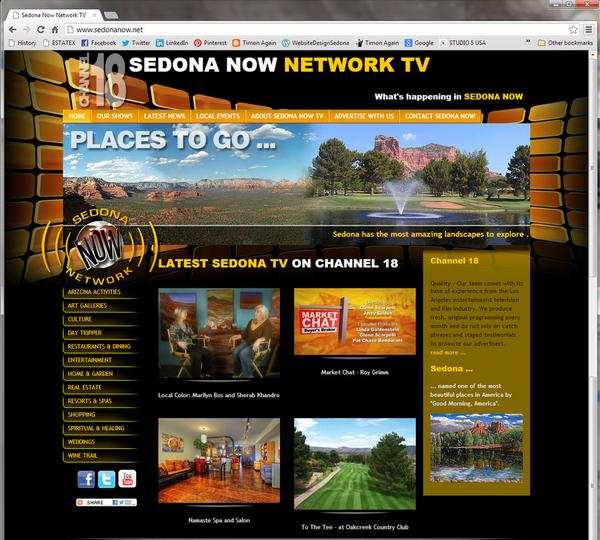 Click on image of Sedona Now TV for more details