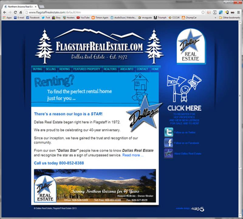 Click on image of Flagstaff Real Estate Website for more details