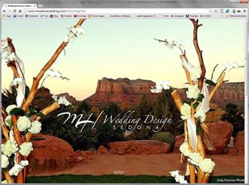 Click on image of Sedona Weddings Website for more details