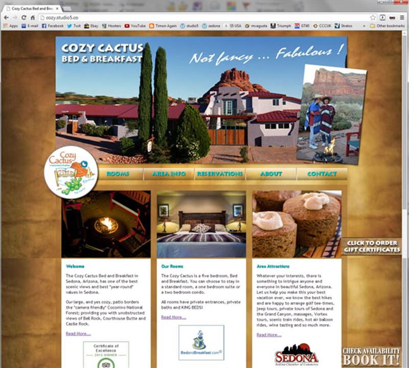 Click on image of Sedona B&B Website for more details
