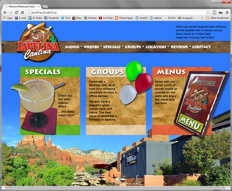 Click on image of Sedona Restaurant Website for more details