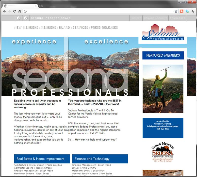 Click on image of Sedona Professionals for more details